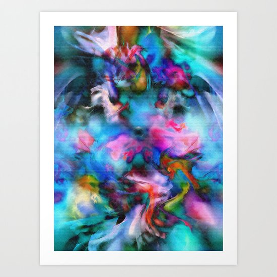 Flowers Scattered by Wind Art Print