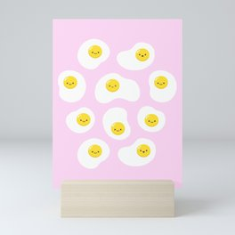 Cute Fried Eggs Pattern Mini Art Print