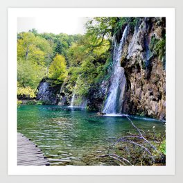 Waterfall in Croatia Large Art Print