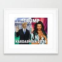 kardashian Framed Art Prints featuring Trump Kardashian 2016  by Storm Media