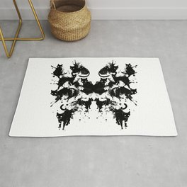 Rorschach Test Cat's On My Mind Rug