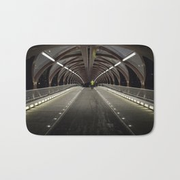 Calgary Peace Bridge Morning Commute Bath Mat