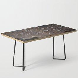 Water Droplet on Leaf Coffee Table