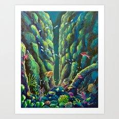 Undersea by Veron Ramsawak Art Print