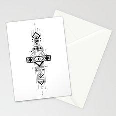 Geometric Device Stationery Cards