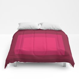 Block Colors - Cherry Red Comforters