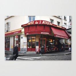 Café des 2 Moulins Canvas Print