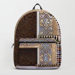 Alhambra Palace. Patio Del Cuarto Dorado Door Backpack
