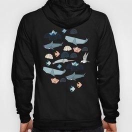 Marine Origami Animals Hoody