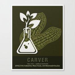 Science Posters - George Washington Carver - Botanist Canvas Print