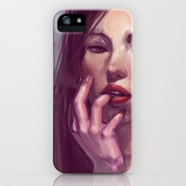 Wondering what lipstick to wear tomorrow iPhone Case