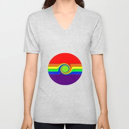 Rainbow With A Headache Unisex V-Neck