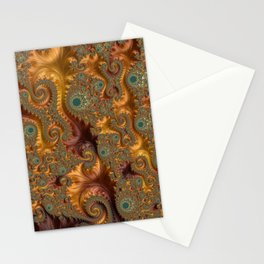 Fall Leaves - Fractal Art Stationery Cards
