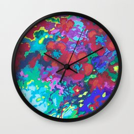 Summer garden red Wall Clock