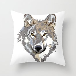 Wolf's eyes Throw Pillow