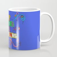 cartoons Mugs featuring it works in cartoons by thev clothing