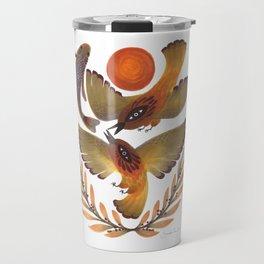 Fighting Birds Travel Mug