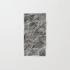 Tropical Palm Leaves – Black Palette Hand & Bath Towel