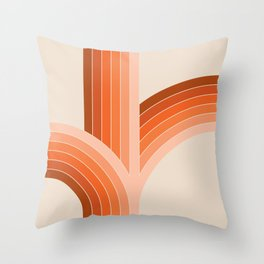 Red Rock Bounce Throw Pillow