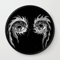 tool Wall Clocks featuring Tool eyes by SnowVampire