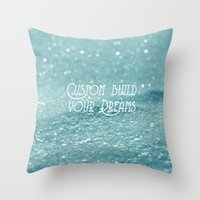 custom Throw Pillows featuring Custom Dreams by Alice Gosling