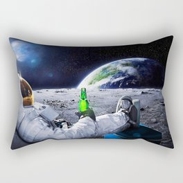 Funny Astronaut with beer Rectangular Pillow