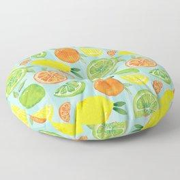 Zesty Citrus Pattern Floor Pillow