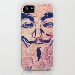 Guy Fawkes Stencil iPhone Case