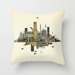 Collage City Mix 8 Throw Pillow