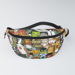 Funny Characters Collage — Culture & Science By Cats Fanny Pack