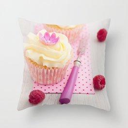 Two cupcakes Throw Pillow