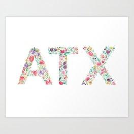 Bloomin' ATX Art Print