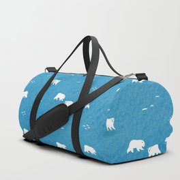 Polar Bears Pattern Duffle Bag