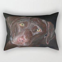 Inquisitive Chocolate Labrador Rectangular Pillow