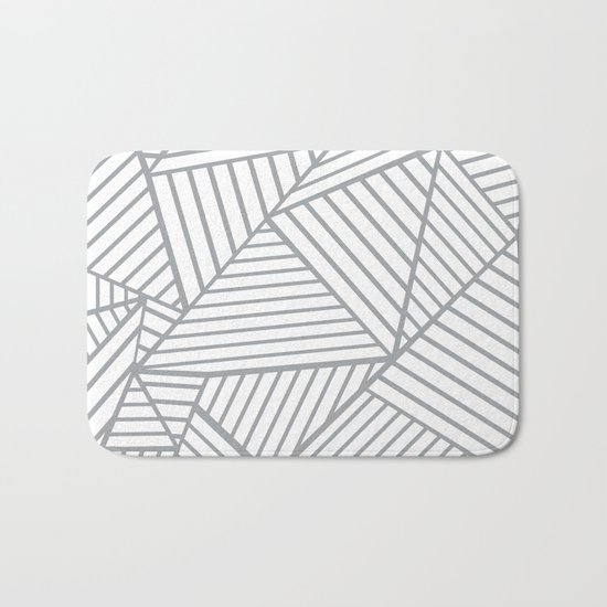 Abstraction Lines Zoom Grey Bath Mat