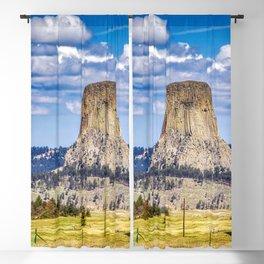 The Devils Tower Landscape Blackout Curtain