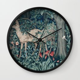 William Morris Forest Deer Wall Clock