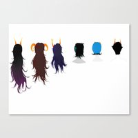 homestuck Canvas Prints featuring Homestuck Ladies by Paula Urruti