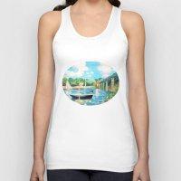 sailing Tank Tops featuring Sailing by YeesArts