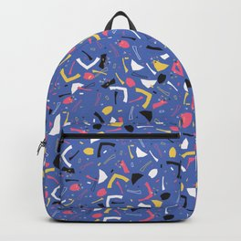 Memphis Style Confetti Sprinkles Seamless Vector Pattern, Drawn Doodle Art Geometric Shape Backpack