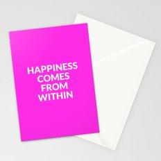 happiness comes from within Stationery Cards