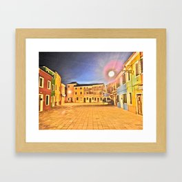 le case colorate di_burano Framed Art Print