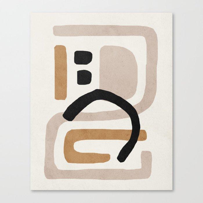 Abstract shapes art, Mid century modern art Canvas Print