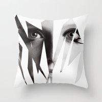 broken Throw Pillows featuring Broken by Maressa Andrioli