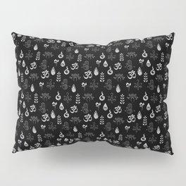 Meditation Symbols Pattern .:blackNwhite Pillow Sham