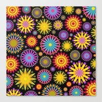 Bright And Colorful Flowers Canvas Print