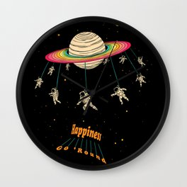Happiness Go Round Wall Clock