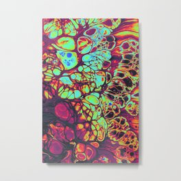 bubble like trippy colorful psychedelic artwork print Metal Print