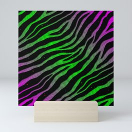 Ripped SpaceTime Stripes - Pink/Green Mini Art Print