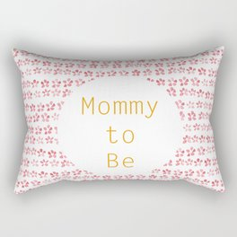 Mommy to be - watercolour pattern Rectangular Pillow